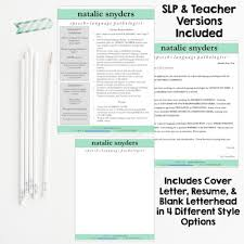 resumes for slps and new grads natalie snyders slp
