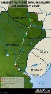 parana river map mapping paraguay s marijuana trail