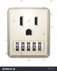 electric outlet combination lock stock vector 105864368 shutterstock