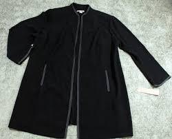dress barn long open blazer jacket womens size 18w casual career