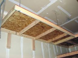 Building Wood Garage Shelves by Perfect Garage Overhead Storage Ideas Bunnings Glorious For Your