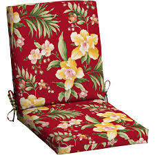 Replacement Cushions For Garden Chairs Mainstays Outdoor Patio Dining Chair Cushion Red Tropical