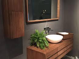 Midcentury Modern Bathroom by Bathroom 41 Floating Wood Vanity With A Mid Century Flair Modern