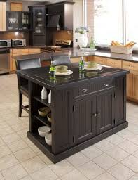 Wheeled Kitchen Island Kitchen Mission Kitchen Island With Breakfast Counter In Black