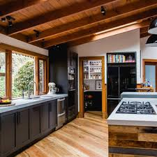 black kitchen cabinets in log cabin 75 beautiful rustic kitchen with black cabinets pictures