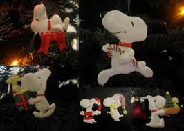 snoopy tree ornaments lights decoration