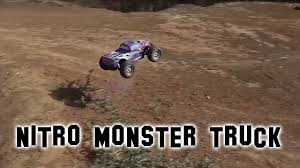 rc nitro monster truck bsd nitro monster truck in action off road test rc car with