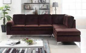 Microfiber Sectional Sofas Helsinki Modern Tufted Brush Microfiber Sectional Sofa Sofamania