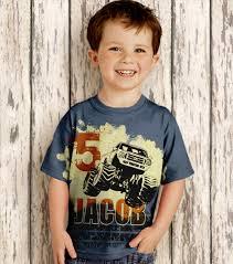 boys monster truck shirt personalized birthday shirt boys