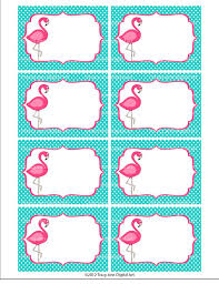 pink flamingo printable labels or buffet cards instant download