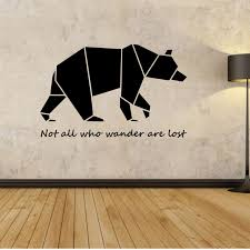 Wall Quotes For Bedroom by Aliexpress Com Buy Origami Bear Wall Decal Wall Stickers Quotes