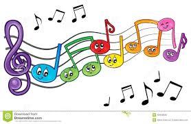 cartoon music notes theme image 2 stock vector image 49458536