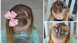 three year old hair dos 3 quick and easy toddler hairstyles for beginners youtube