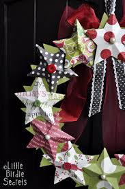 Christmas Decorations To Make Yourself - last minute christmas decorations 3d paper star wreath tutorial