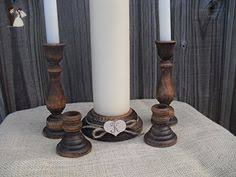 amazon black friday decho dot unity candle set handpainted beige candles with white roses