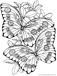Detailed Butterfly Coloring Pages For Adults | fantasy pages for adult coloring butterfly color page animal