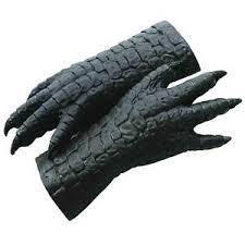 godzilla movie monster lizard latex halloween costume hands