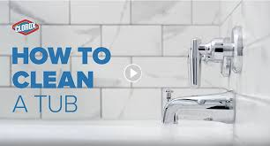 How To Remove Stain From Bathtub How To Clean A Bathtub U0026 Shower Clorox