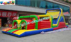 professional cool 0 55mm pvc tarpaulin inflatables obstacle