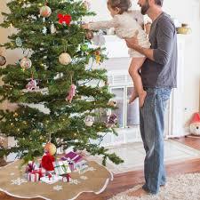 ourwarm 48 inch burlap tree skirt snowflake tree