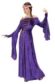 female witch costume purple medieval costume for women adults costumes and fancy dress