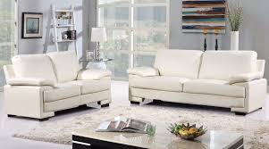 Leather Or Microfiber Sofa by Demetra Modern Bonded Leather And Microfiber Sofa And Loveseat Set