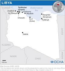 Map Of Libya Libya Reliefweb