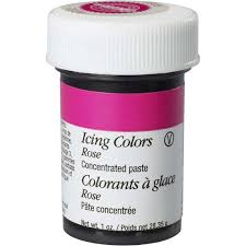 rose gel food coloring icing color wilton