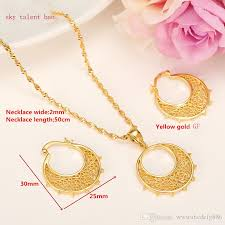 girl necklace size images 2018 small size ethiopian set jewelry necklace earrings kids 24k jpg