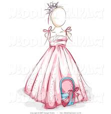 wedding dress clipart kid pencil and in color wedding dress