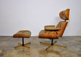 Eames Leather Lounge Chair Select Modern Frank Doerner Eames Style Leather Lounge Chair