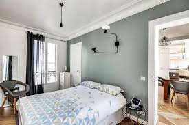 chambre gris vert chambre grise et verte