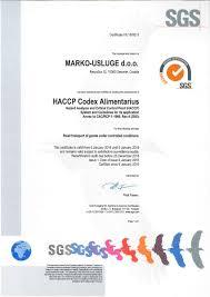 certificates marko usluge d o o
