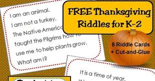 classroom freebies riddles for thanksgiving