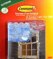 command for hanging outdoor string lights 20 clear