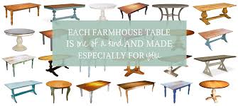 farmhouse tables any size shape color cottage home