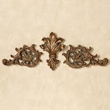 tazia golden bronze decorative wall topper set