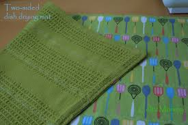 Kitchen Drying Mat by Celticmommy Tutorial Sew Your Own Dish Drying Mat