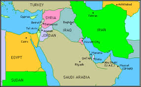 A Map Of The Middle East by Middle East By Natasha Yousefi