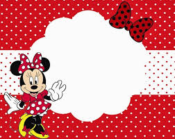Minnie Mouse Card Templates minnie mouse printable invitation template for
