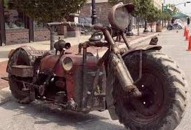 Tractor Meme - put me like 盞 a motorcycle recycled from an old tractor