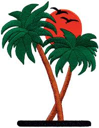 palm trees embroidery design annthegran