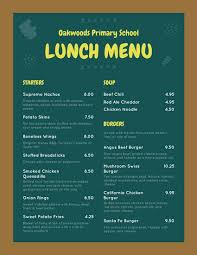 lunch menu template free green chalkboard school lunch menu templates by canva