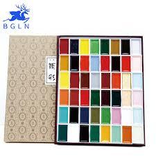 japan auspicious 12 18 24 35 48 60 water color pigment set super