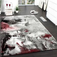 Wohnzimmer Schwarz Grau Rot Teppich Design Modern Kreative Bilder Für Zu Hause Design