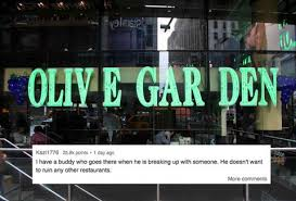 reddit asked why they eat at the times square olive garden