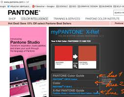 Color Palette Pantone How To Use Pantone For Fashion Design