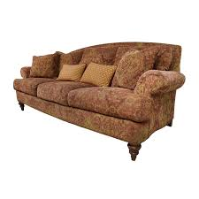 65 off ethan allen ethan allen paisley cushioned sofa with toss