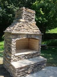 outdoor stone fireplace small outdoor stone fireplace kits landscaping backyards ideas