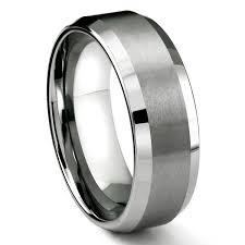 Mens 8mm White Gold Comfort Fit Wedding Band 6mm Tungsten Satin Men U0027s Wedding Band Ring Size 5 16 Amazon Com